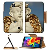 MSD Premium Samsung Galaxy Tab 4 7.0 Tablet Flip Pu Leather Case praying little angel figure with golden wings isolated on sky IMAGE 37104271 by MSD Customized Premium