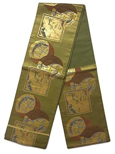 制限余裕がある鳴らすリサイクル 袋帯 川島織物 色紙と丸文 正絹 六通