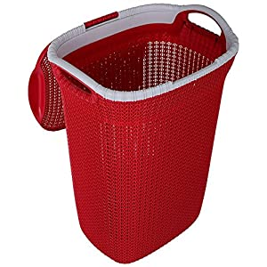 Nayasa Rope Laundry Basket/Laundry Bag – Multipurpose Basket – Plastic Laundry Basket – Small – Maroon