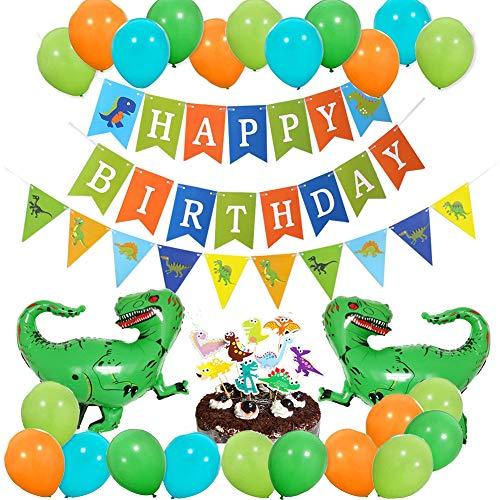 Dinosaur Party Supplies, Yoart Dinosaur Birthday Decorations Dino Jungle Jurassic Decorations for Kids Happy Birthday Party]()