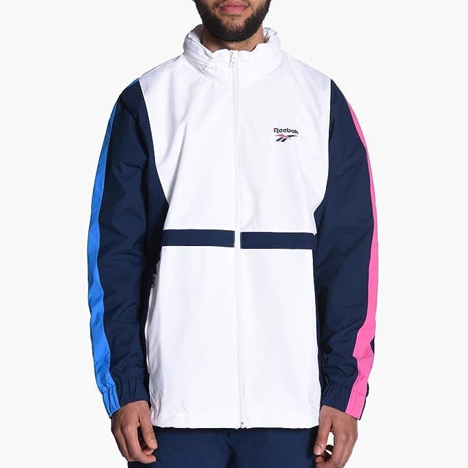 8115ceabfbaaf Reebok Windjacke – Lf Vintage Outerwear Brin weiß blau rosa Größe  XXL  (XX-Large)  Amazon.de  Sport   Freizeit