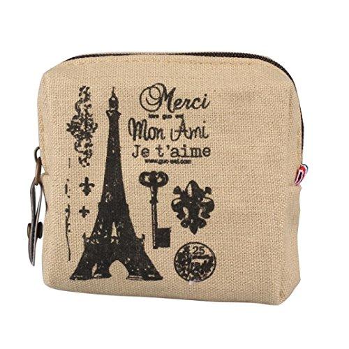 FranterdMini Retro Paris Pattern Lady Purse (Pattern Women Shoulder Bags)