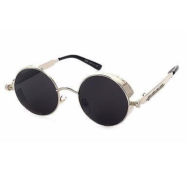 Fenck High Quality Retro Women Round Sunglasses Steampunk Metal Frame Round Sun Glasses Male Female Mirror Uv400 j5OrKa2T5D