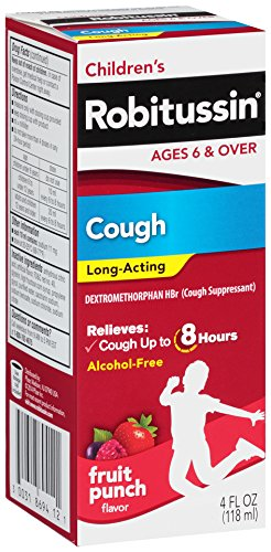 Robitussin Cough Syrup (Robitussin Children's Cough Long Acting, Fruit Punch, 4 Ounce)