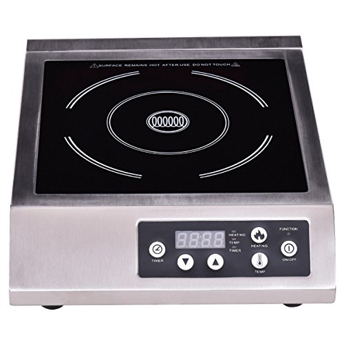 1800W Commercial Electric Induction Cooker Single Burner Cooktop Countertop New by Happybeamy