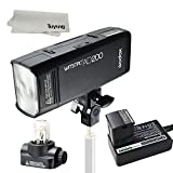 GODOX AD200 has 200Ws GN 60 High Speed Sync Flash Strobe Built-in 2.4G Wireless X System to Achieve TTL 2900mAh Battery to Provide 500 Full Power Flashes Recycle in 0.01-2.1 Second