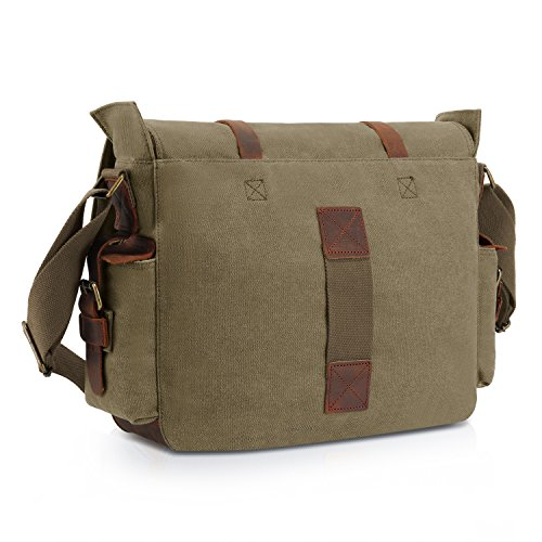 Kattee Unisex Classic Military Canvas Shoulder Messenger Bag