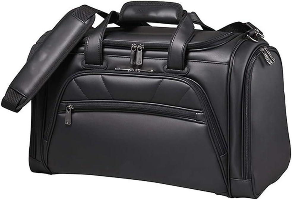 LLKOZZ ゴルフウェアバッグ、トラベルハンドバッグ、100%防水、黒、47×23×32cm