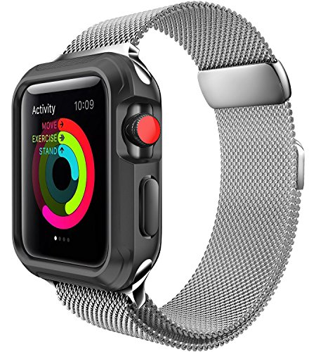 For Apple Watch Band 38mm Milanese Loop for iWatch Series 3 2 1 Silver