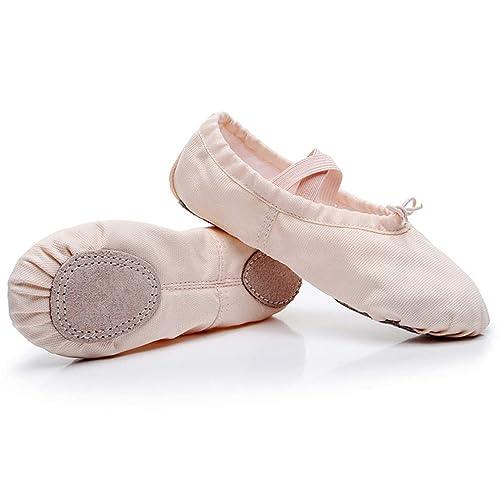 plus récent 75528 b158e Chaussures de Danse de Ballet - Classique Fille en Toile ...