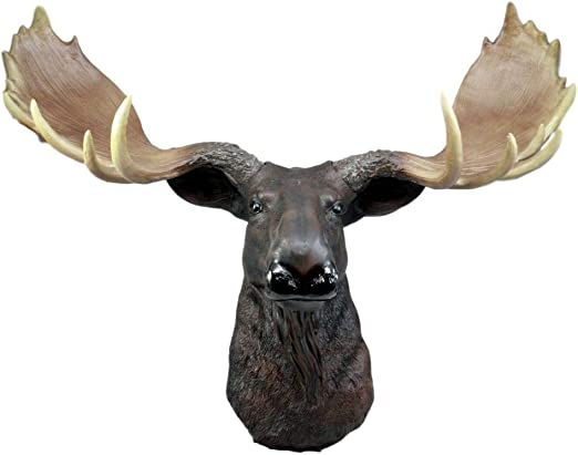 "North American Bull Moose Wall Decor 24/""Wide Wall Mount Plaque Figurine"