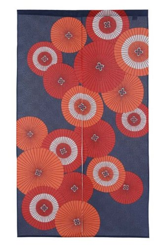 Made in Japan Noren Curtain Tapestry Japanese Umbrella Aggregate Design