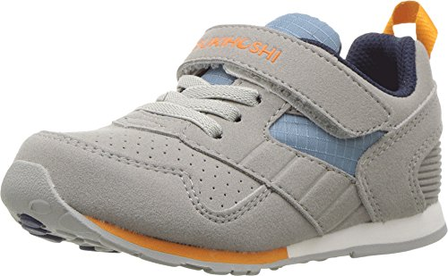 Big Kids Racer - TSUKIHOSHI Kids Racer Gray/Sea - 2510-050-C/8 M US Toddler