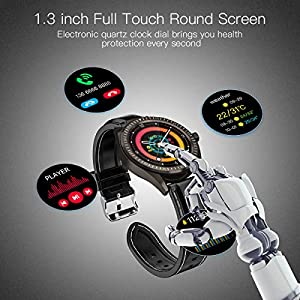 Smart Watch, 1.4″ Touch Screen Smartwatch, Fitness Tracker Step Counter, Activity Tracker with Heart Rate Monitor, IP68 Waterproof Sport Watch for Women and Men