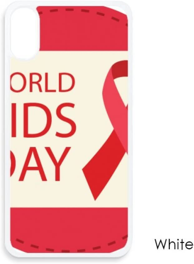 World AIDS Day 1st December Red Ribbon HIV for iPhone X Cases White Phonecase Apple Cover Case Gift