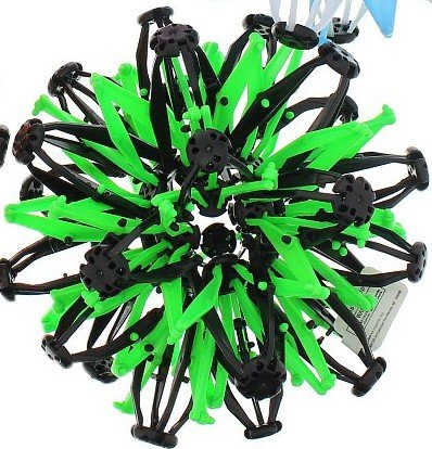 expandable-ball-hand-catch-ball-flower-ball-kids-boys-girls-toys-color-green-and-black-