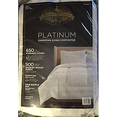Pacific Coast Platinum European Down Comforter - Year Round Comfort (King)