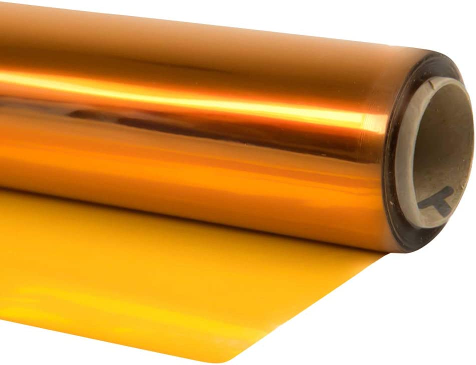 Cellophane Wrap Sheet - Cellophane Roll Great Wrapping Paper for Craft Basket(Yellow, 40
