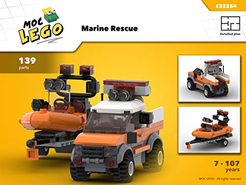 Marine Rescue (Truck, Boat and trailor) (Instruction Only): MOC LEGO por Bryan Paquette