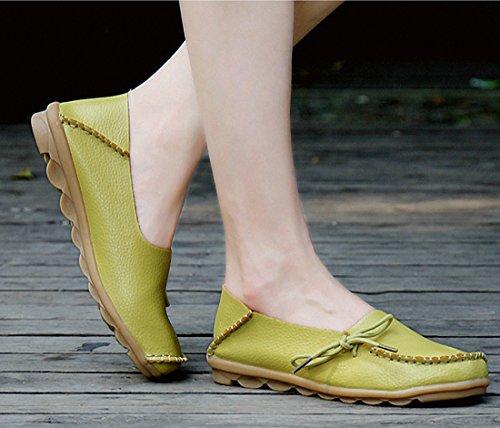 Kvinnor Dagdrivaren Skor Tillfälliga Promenadskor Platta Driv Skor Halka På Mockasin Båt Skor Äppelgrön
