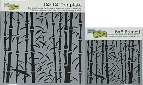 The Crafter's Workshop Set of 2 Stencils - Bamboo 12