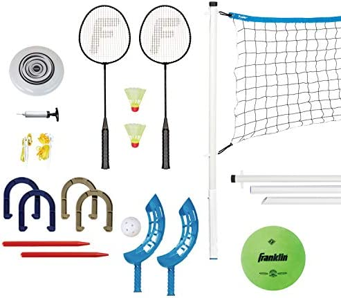 Franklin Sports Fun 5 Combo Set – Badminton,...