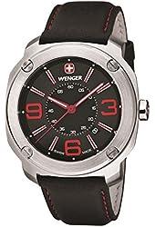 Wenger Escort Black Dial Stainless Steel Leather Quartz Men's Watch 01.1051.103