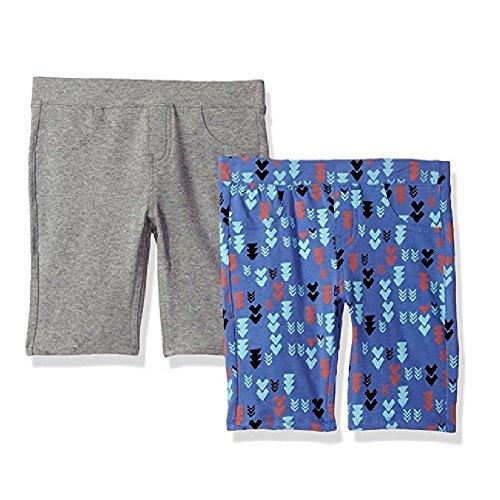 VIGOSS Big Girls' Knit Bermuda Shorts (Pack of 2) (4, Wisp (Girls Knit Bermuda Shorts)