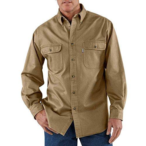 - Carhartt Men's Oakman Sandstone Twill Original-Fit Work Shirt, Cottonwood, Regular XX Large