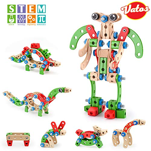 VATOS Wooden Construction Building Set, 96 PCS STEM for sale  Delivered anywhere in USA