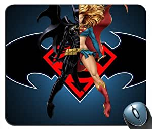 Custom Batgirl and Supergirl DC Comics Mouse Pad g4215 by mcsharks