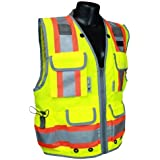 Radians SV55-2ZGD-2X Class 2 Heavy Woven Two Tone Engineer Safety Vest, Hi Viz Green, XX-Large by Radians