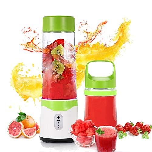 UIQELYS Portable Juicer Blender, Mini Travel Personal Juicer Mixer Household Fruit Blender for Shakes and Smoothies,Rechargeable USB Cup