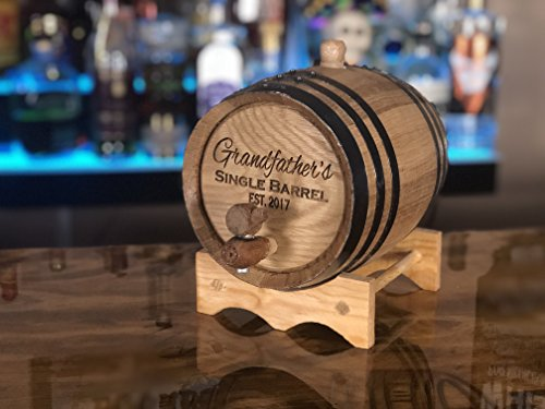 Custom Engraved 3 Liter Oak Barrels for Aging Whiskey, Rum, Tequila, Bourbon, Scotch and Wine (3 liter) by Red Head Barrels (Image #2)