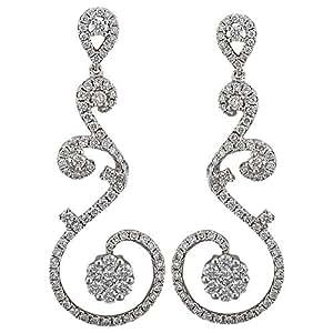 Verona Women's White Gold 18K Diamond Earring