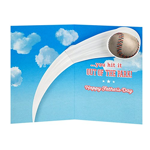 Hallmark Father's Day Greeting Card for Grandpa from Kids or Child (Peanuts Snoopy Baseball) Photo #3