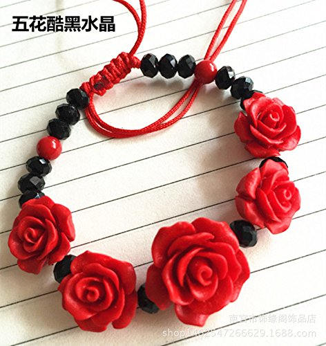 Wholesale and retail Chinese red lacquer carved cinnabar bracelet female national wind bracelets anniversary gifts crafts Chinese Carved Lacquer