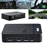 HD Game Capture Recorder Box,Capture Card HD Video Capture1080P HDMI/YPBPR Recorder Xbox,Support Mic in with both HDMI and YpbPr Input (Black)