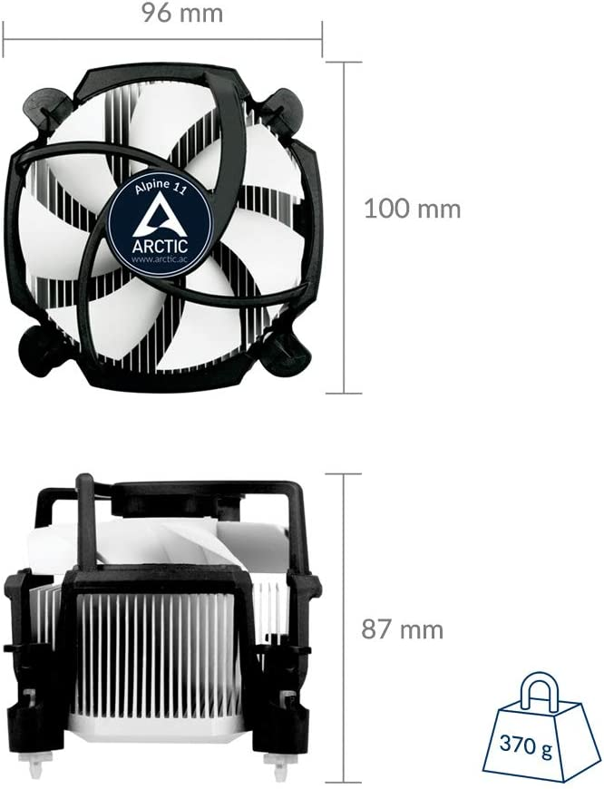 ARCTIC Alpine 11 - Ventilador de ordenador silencioso, Enfriador ...