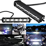 KOYA Extreme Slim 18W Cree LED Chip 2160LM Spot Road Driving Lights Bar for a Variety of Vehicles and Commercial Areas (18W 7inch spot beam)