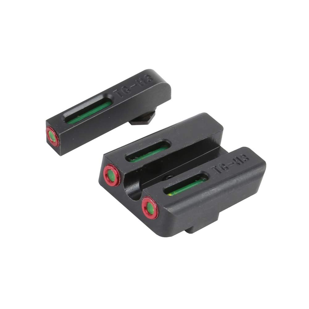 EFINNY Shooting Gear Real Red Green Fiber Optic Front with Combat Rear Sights Focus-Lock for Glock