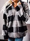 Angashion Women's Long Sleeve 1/4 Zip Up Lapel