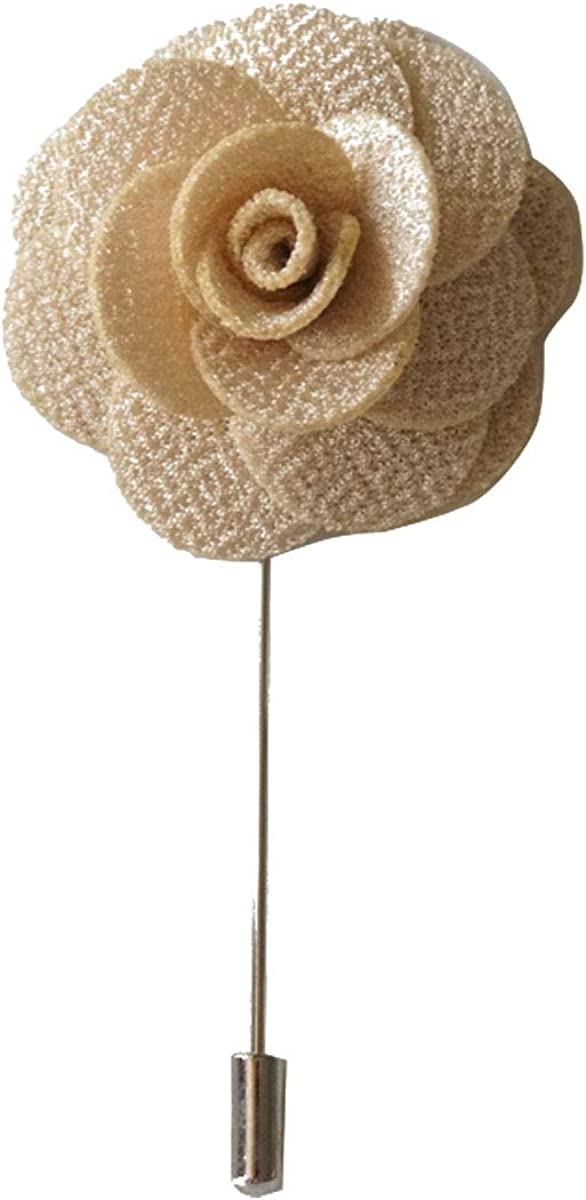 Sunny Home Men's Lapel Flower Stick Brooch Pin Boutonniere for Suit Tuxedo Corsage