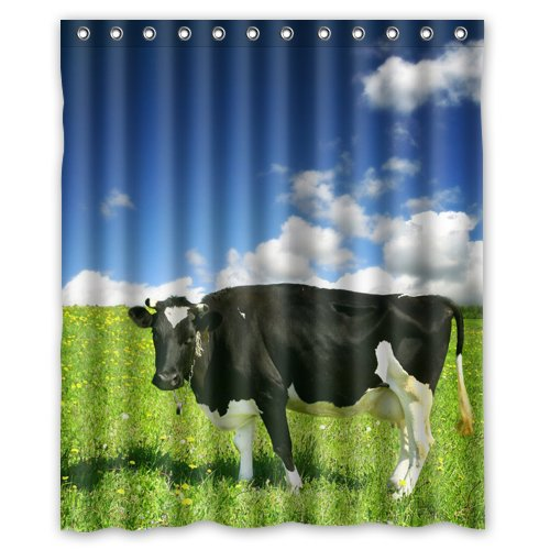 Custom Squint Cow Shower Curtain 60 X 72 Inch Bath