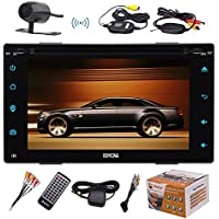 Eincar Android 6.0 Double-DIN In Dash 6.2 Inch Car Stereo Audio DVD/CD Player with Touchscreen GPS Navi HeadUnit AM/FM/Wifi/Bluetooth/Mirror link/Remote Control+FREE WIRELESS Backup Cam