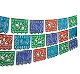 Mexican Cutout Banner Plastic 100ft Fiesta Quinceanera Decoration Indoor Outdoor