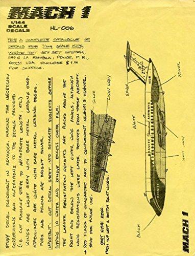 Mach 1 1:144 Braniff International Airways N1541 Decal Sheet #ML006