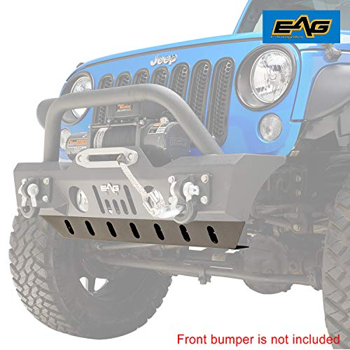 Front Bumper Skid Plate - EAG Skid Plate Front Bumper JJKFB003 Fit for 2007-2018 Jeep Wrangler JK