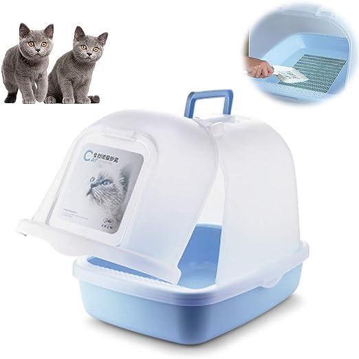 Caja de Arena para Gatos Cubierta Grande de una Sola Capa Concha ...