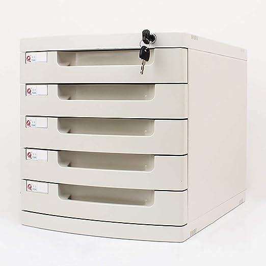 FPigSHS Archivadores de fichas Gabinetes for Archivos Archivadores Caja de Almacenamiento de Escritorio Muebles de Oficina Archivador, con Cerradura Alta Capacidad Puede almacenar Archivos A4: Amazon.es: Hogar